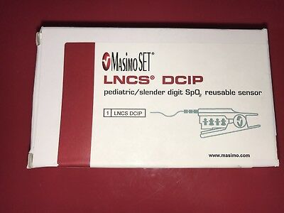 Masimo Set LNCS DCIP Pediaric Slender Digit Reusable pulse ox Sensor NEW IN BOX