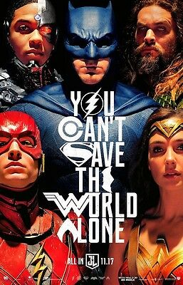"""Justice League (11"""" x 17"""") Movie Collector's Poster Print (T10) - B2G1F"""