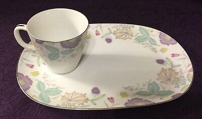 1 Fantasia Oval Snack Plate with cup by Sango