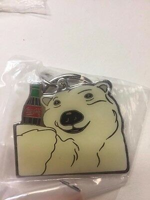 Vintage Coca Cola Polar Bear Keychain ~ Coke ~ New In Package