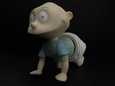 Vintage Rugrats Toy Wind-up Tommy Pickles Crawling Baby Figure Nickelodeon Show