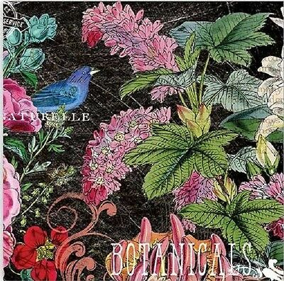 TWO (2) Botanical Garden, Cocktail Napkins for Decoupage and Paper Crafts