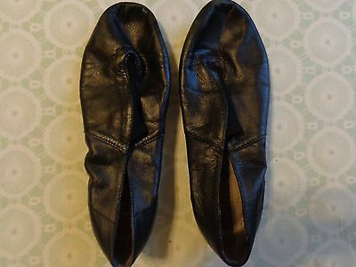 girls ballet dance shoes jazz  by BLOCK size 6 1/2 black Jazz shoes leather