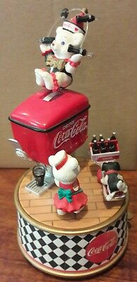 MAKE ME OFFER Collectable COCA-COLA MUSIC BOX 1995 'THINGS GO BETTER WITH COKE'