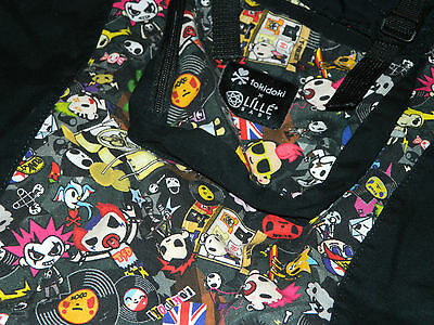 "LILLEbaby 3 in 1 CarryOn Toddler Carrier-TokiDoki ""Rebel"" Black USED EXCELLENT"