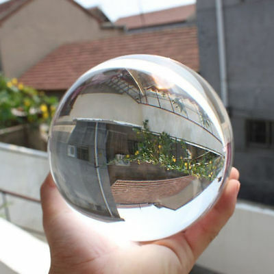 80Mm + Stand Huge Asian Quartz Clear Crystal Ball Sphere'