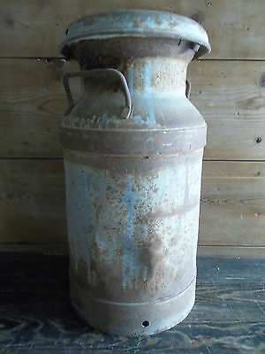 VINTAGE MILK CAN BEATRICE FOODS DAIRY CAN w/Lid 1958 Farm FRESH DAIRY Container