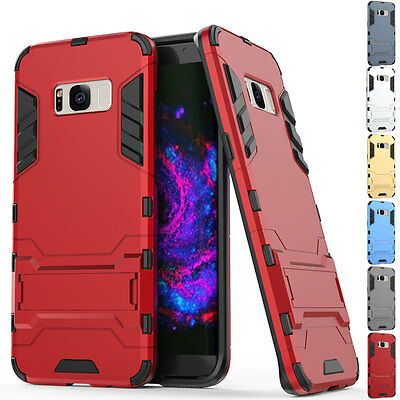 Shockproof Stand Rugged Armor Hybrid Case Cover For Samsung Galaxy S8+ Plus Red