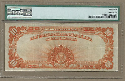 1922 $10 In Gold Coin <<< Gold Certificate >>> Pmg Choice Very Fine 35