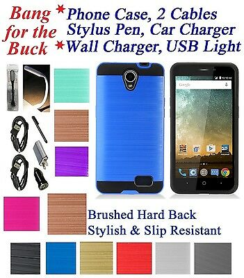 FOR ZTE ZFIVE 2 LTE Z836 Shock Proof Cushion Edge Case Hybrid Slim