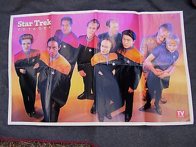 Star Trek Voyager Poster From TV Guide 1995 Paramount Pictures
