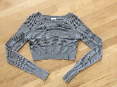 Ivivva Crop Knit Pullover Gray Size 14