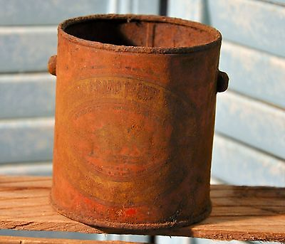 Antique Buffalo Brand Peanut Butter Tin Rusted Collectible