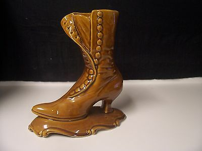 Vintage California Pottery1224  Brown High Top Lady's Shoe