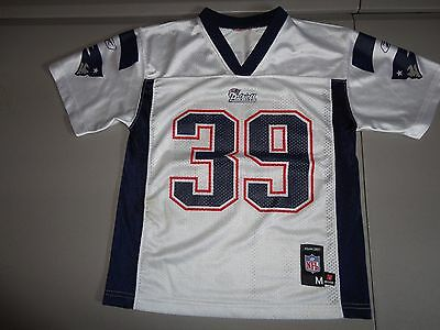ba5d14ac8f3 White New England Patriots 39 Laurence Maroney NFL Screen Jersey Youth M  NICE REEBOK ...