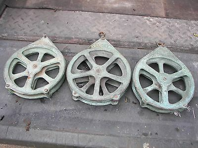 """3 henco lucky rollerson 6"""" BRONZE PULLEY BLOCK COMMERCIAL FISHING"""