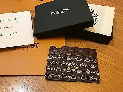 Faure Le Page RARE NIB Red Card Case with Yellow Trim (includes FREE GIFT)