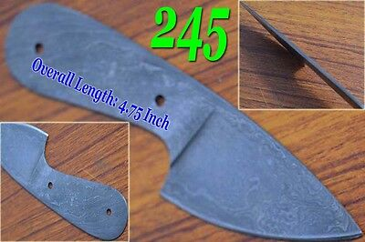 "4.75""custom made Damascus steel blank blade knife making supplies  dk-245"