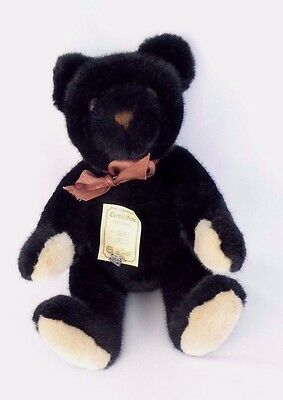 """Gebr. Hermann Company and Annette Funicello Black Teddy Bear 16"""" Growler"""