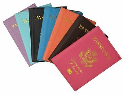 Travel Leather Passport Organizer Holder Card Case Protector Cover Wallet pink :
