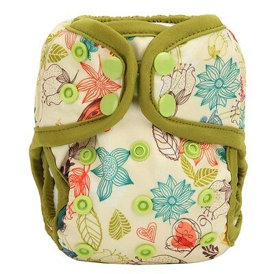NEWBORN Cloth Diaper Cover Baby Nappy Double Gusset 8lbs-10lbs Bloom Floral