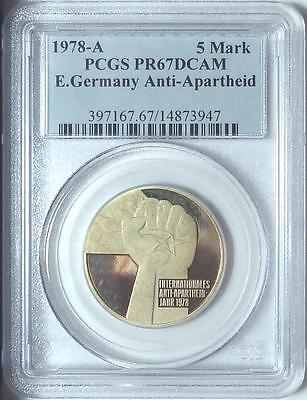 East Germany 1978-A 5 Mark, Anti-Apartheid, PCGS PR67DCAM