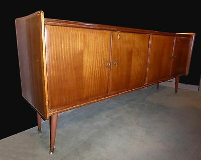 Vintage Danish Mid Century Modern Style Solid Wood CREDENZA Peg Leg Sideboard
