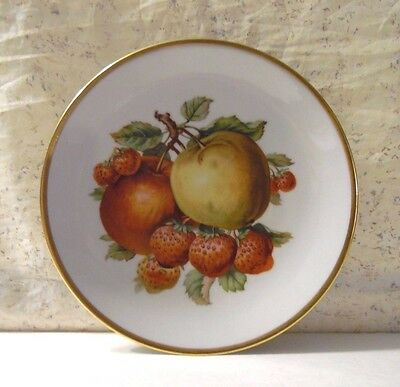 Vintage Mitterteich Bavaria Germany Plate Strawberries And Apples 7 1/2""