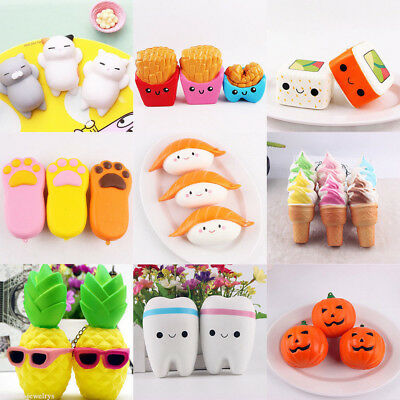 Simulation Squishy Squeeze Anti Stress Soft Toy Slow Rising Phone Strap Keychain