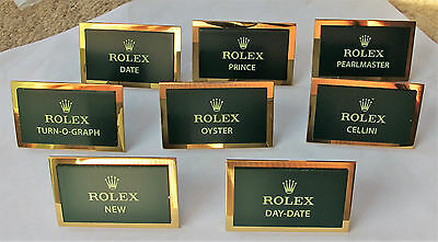 Genuine Vintage Rolex  Set Of  Display Plaques  Each Is Size   46 Mm  X  30 Mm