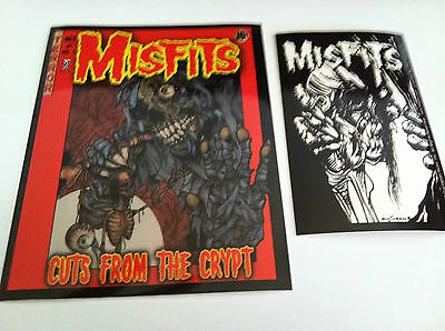THE MISFITS 2-Pack of Stickers Cartoon Crypt & Eyeball NEW OFFICIAL MERCH Danzig