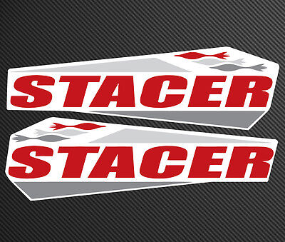 Stacer Replacement Decal Set 460mm wide gloss laminated UV resistant stickers