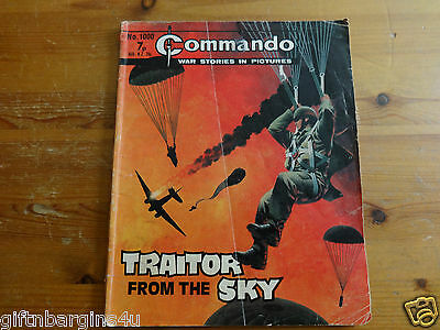 COMMANDO COMICS  NO 1000 1976 7p TRAITORS FROM THE SKY