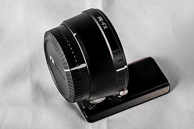 Pentax K Mount Lens to Fujifilm Fuji X Mount Camera Adapter w/ Arca Tripod Foot