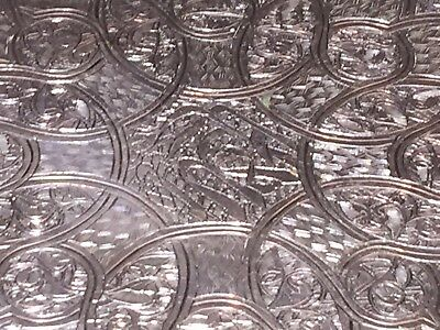 Islamic Middle Eastern Egyptian Sterling Silver Tray Bowl Marked 19th Cent 233g