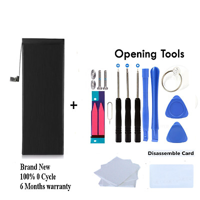 Iphone 6 Internal Replacement Battery 1810 Mah 0 Cycle Plus 13 Free Tools Kit