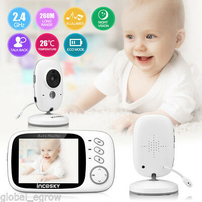 "3,2"" Wireless Baby Monitor Babyfone Babyphone Nachtsicht Kamera Video Babyviewer"