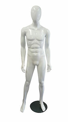 Abstract Male Plastic Mannequin - Gloss white