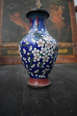 antique japanese cloisonne enamel vase