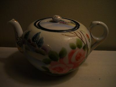 Nippon Hand Painted Floral/Scenery Teapot  China