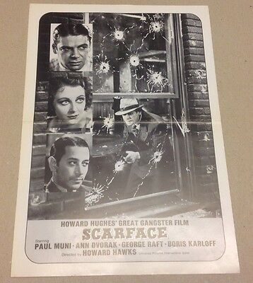 """Scarface"" Howard Hughes Paul Muni Dvorak 1932 Danish Movie Press Release Kit"