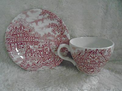 Vintage Alffed Meakin Demitasse Cup and Saucer Coaching Days