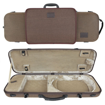 GEWA Bio-S Oblong Violin Case with Sheet Music Pouch for 4/4 Size Brown/Beige
