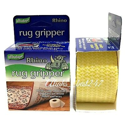 Ultratape Rug Mat Gripper Tape - Holds Rugs & Mats in Place All Floor Surfaces.