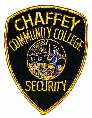 CHAFFEY COMMUNITY COLLEGE – CCC - CALIFORNIA CA Police Patch VINTAGE OLD MESH ~~