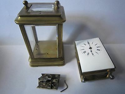 miniature gorge cased carriage clock, spares repair