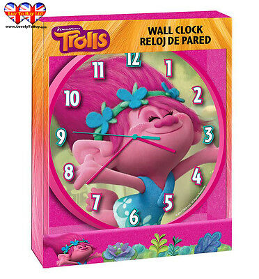 Childrens Wall Clock, Trolls|Poppy Wall Clock, Officially Licensed,Brand