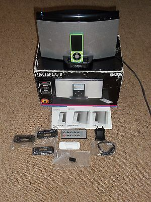 Gear4 HouseParty 2 Speaker Ipod Iphone Docking Station with Remote & EU charger