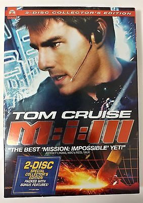 Video DVD - Mission Impossible 3 - Tom Cruise 2 Disc  LIKE NEW (LN) WORLDWIDE