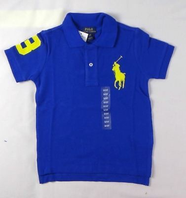 Ralph Lauren Boys' Short Sleeve Big Pony Cotton Polo Shirt Top sizes 2, 3